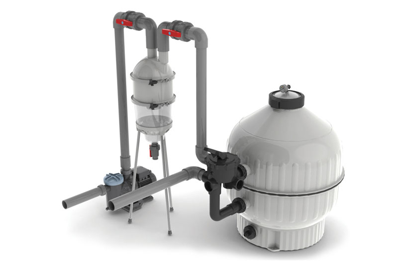 Hydrocyclone Pre Filter Cleaning System Cartridge Filter