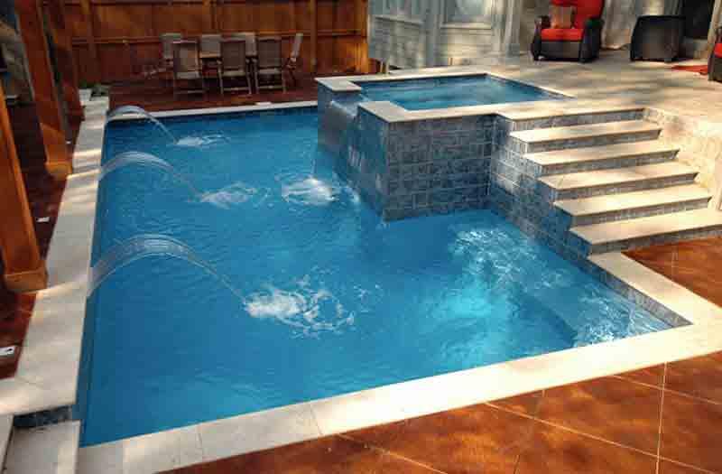 Trilogy pools europa pool model for Fiberglass inground swimming pools