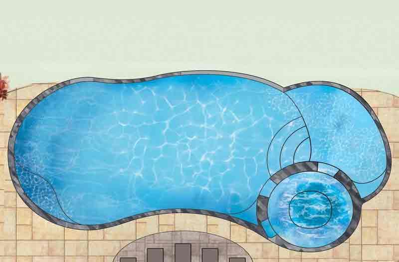 Leisure Pools Allure 40 Pool Model