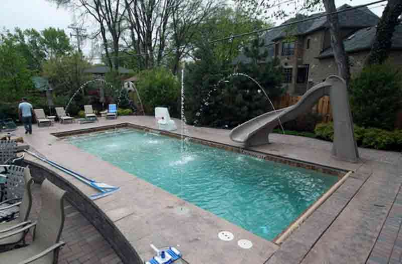 What is the price for rectangle inground fiberglass pool - A rectangular swimming pool is 30 ft wide ...