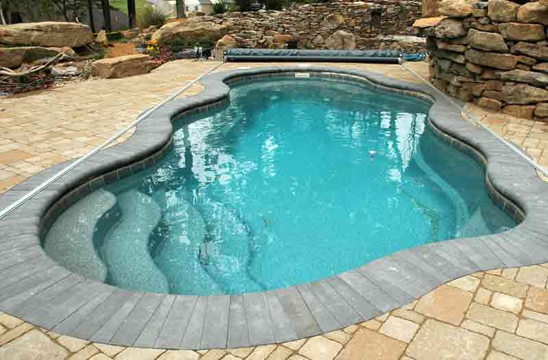 Viking pools bermuda pool model for One piece inground swimming pool