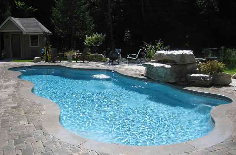 Viking pools caribbean pool model for One piece inground swimming pool