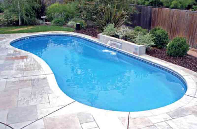 Blue hawaiian greenbrier pool model for One piece inground swimming pool