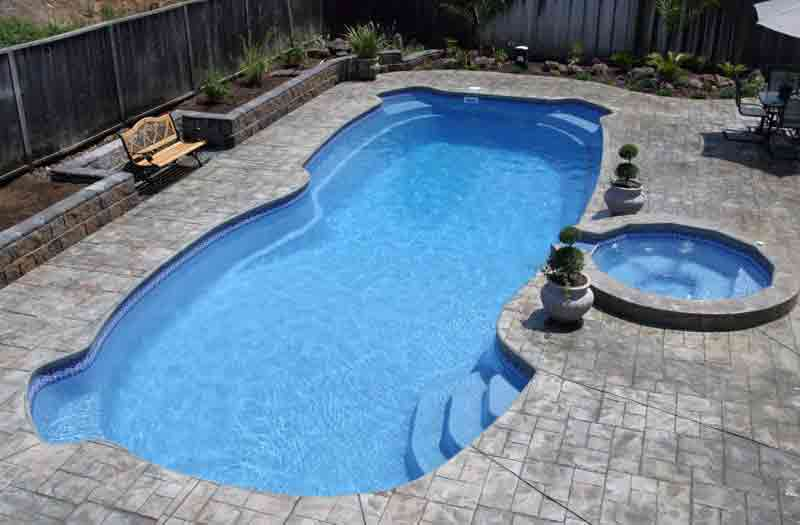 Viking pools gulf shore pool model for One piece inground swimming pool