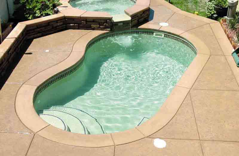 Laredo Fiberglass Pool Kidney Model by Blue Hawaiian Fiberglass Pools