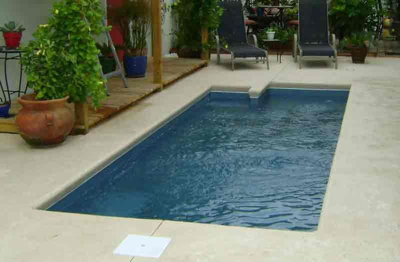 How much is blue hawaiian rectangle 4 to 5 feet deep fiberglass pool for A rectangular swimming pool is 6 ft deep