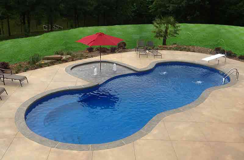 Leisure pools mediterranean pool model Fiberglass swimming pool installation