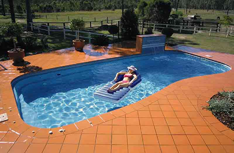 Spn fiberglass pools pool kits pool shells for One piece inground swimming pool