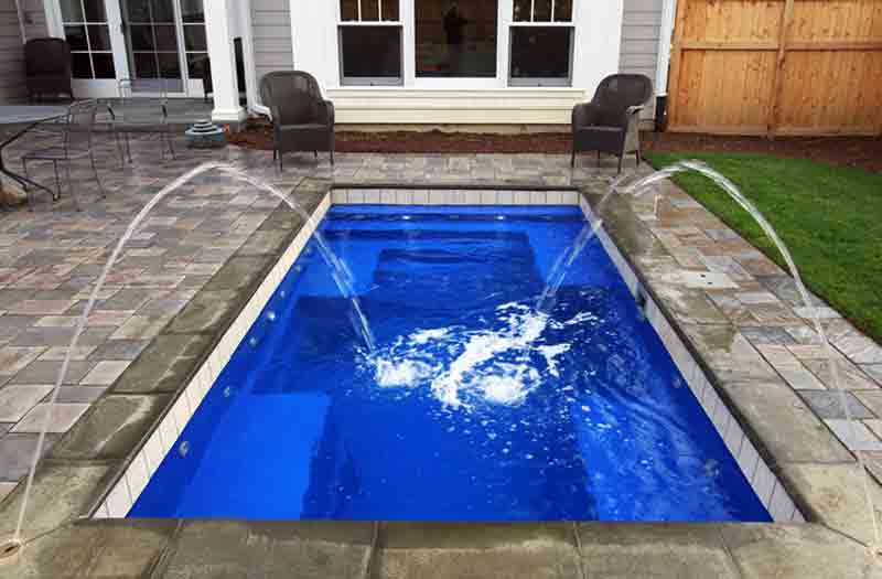 Leisure pools rectangle shape 5 to 6 feet deep fiberglass pools for A rectangular swimming pool is 6 ft deep