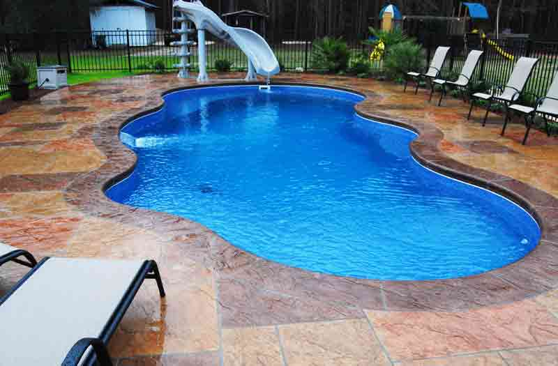 Phoenix Swimming Pools : Blue hawaiian phoenix tanning ledge pool model