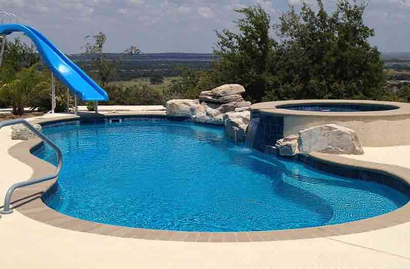 Inground pools fiberglass pools swimming pool now - Riviera fiberglass pools ...
