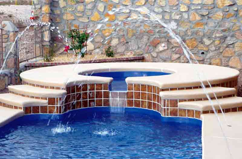 Sorrento SPA 8 Spill 8 x 8 x 4 Pool by Leisure Pools