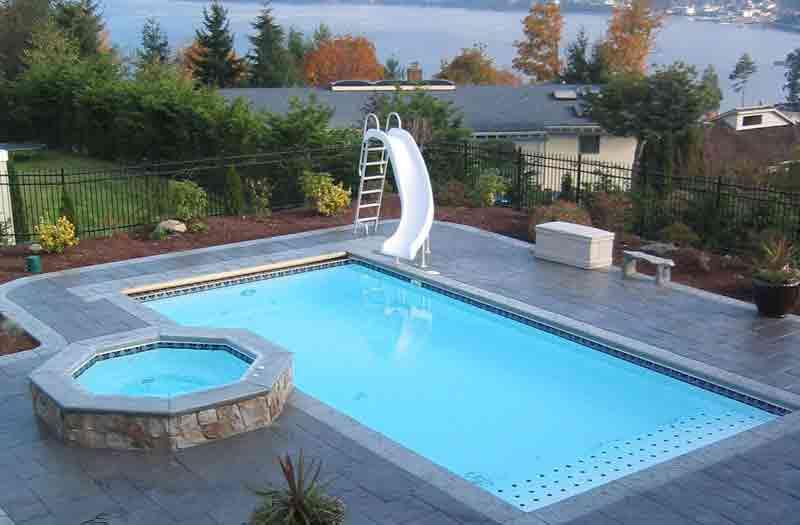 Blue Hawaiian Rectangle Fiberglass Pools 5 To 6 Feet Deep