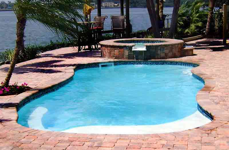 Blue Hawaiian Vista Isle Pool Model
