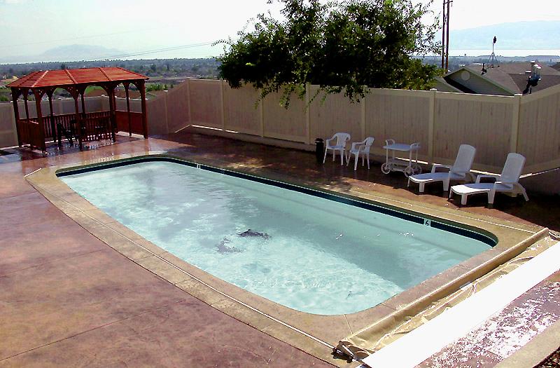 Inground fiberglass pools fully installed pool kits - Fiberglass swimming pool shells for sale ...