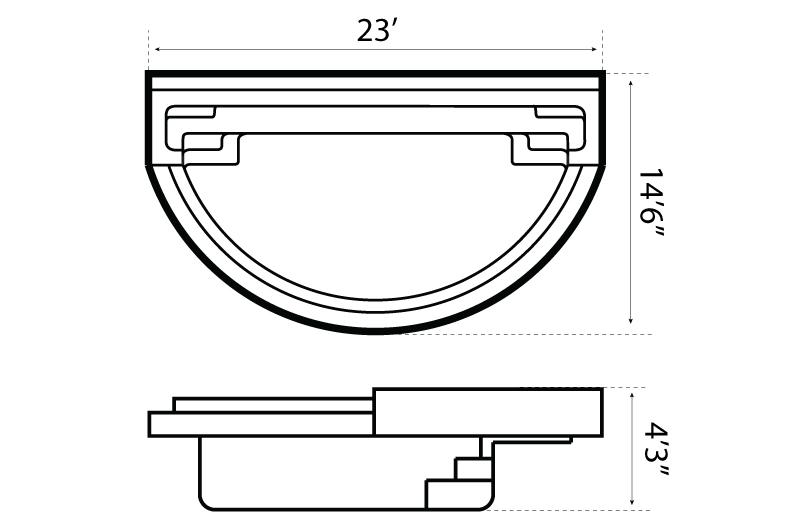 Leisure Pools : Horizon Infinity Edge Pool Model on air conditioning schematic diagram, infinity swimming pool designs, natural swimming pool diagram, spa schematic diagram, swimming pool plumbing isometric diagram,