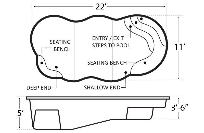 Island Cove 22 Pool Schematics