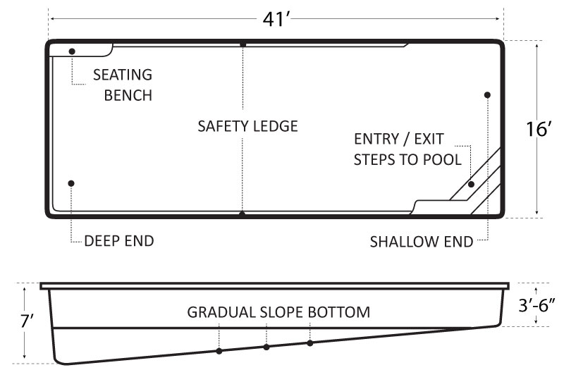 Olympic Bay 41 Pool Schematics