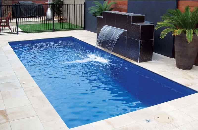 What is the price for rectangle inground fiberglass pool Square swimming pools for sale