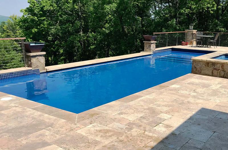 Leisure Pools Pinnacle 40 Tanning Ledge Combo Pool Model