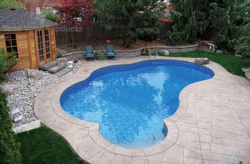 Liberty vinyl liner pool model by kafko for Vinyl swimming pool