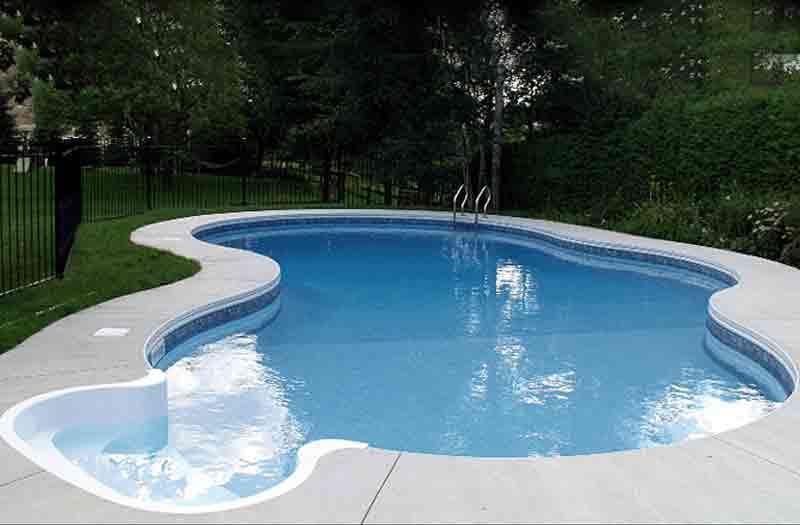 Oregon vinyl liner pool model by kafko for 12x24 pool design
