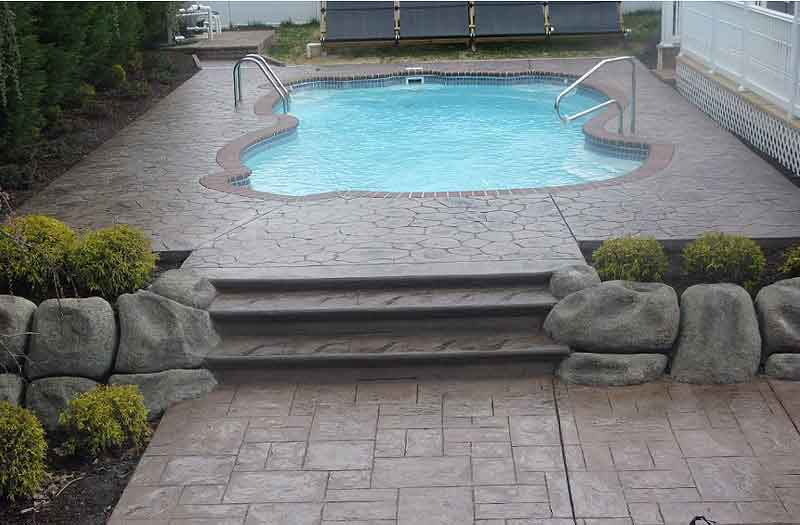 Stamped Concrete  x  x  Pool by Longford