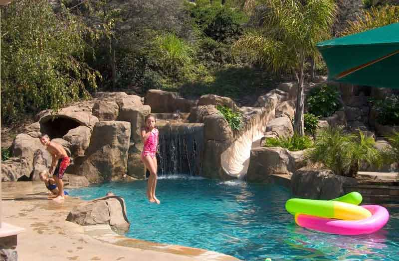 cool pools with waterslides contemporary cool pools with waterfalls and slides caves for