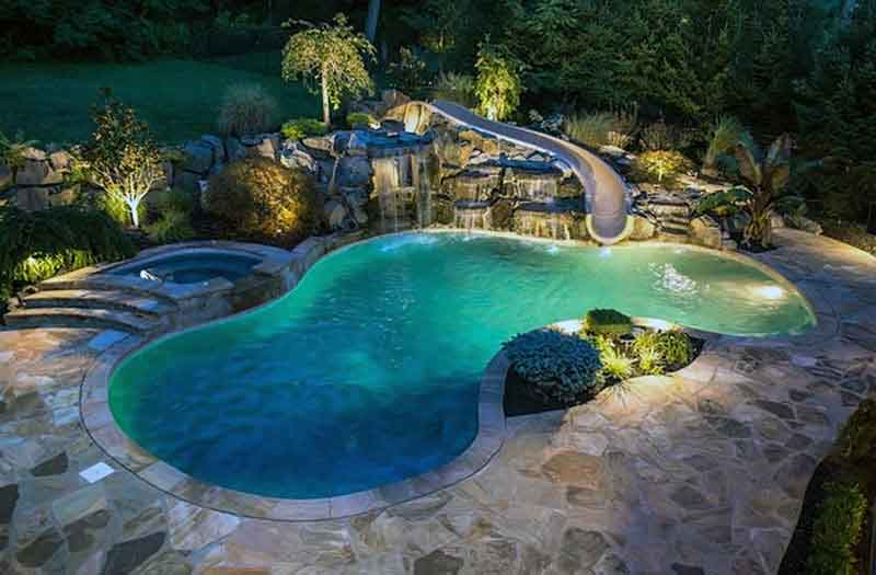 Swimming Pools With Waterslides Example